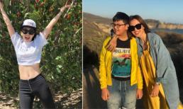 Đã 36 tuổi, Anh Thư vẫn được khen trẻ như gái đôi mươi khi đi du lịch ở Mỹ cùng con trai