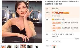 Thiết kế váy từng mê hoặc loạt mỹ nhân Việt đã bị nhái và bán nhan nhản trên web Trung Quốc