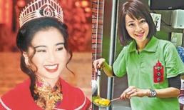 Hoa hậu Hong Kong hết thời phải bán đồ ăn vặt kiếm sống, vất vả chăm chồng bị ung thư phổi