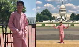 'Chất' như danh hài Hoài Linh, diện áo bà ba đi dép tông tham quan Nhà Trắng