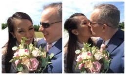 Lý Thanh Thảo diện áo dài trắng tinh khôi, hôn chồng Tây say đắm trong hôn lễ tại Hà Lan