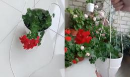 Mẹo làm giỏ dây treo chậu hoa đơn giản ai cũng có thể làm