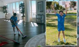 Sang Mỹ du lịch, Subeo vẫn phải làm việc nhà để được chơi bóng đá