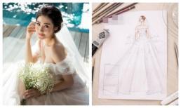 Tiết lộ thiết kế váy cưới 'khủng' đính 20.000 viên pha lê của Á hậu Tú Anh trong ngày cưới