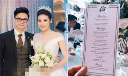 Lấy chồng thiếu gia, thực đơn trong đám cưới Á hậu Tú Anh có gì?