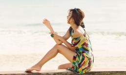 Kim Tuyến khoe da nâu khỏe khoắn trong nắng Hội An