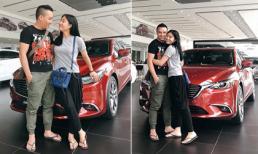 MC Hoàng Linh và bạn trai tậu xe mới gần 1 tỷ đồng
