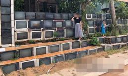 Hàng rào siêu độc đáo làm từ tivi cũ ở Việt Nam được lên báo nước ngoài