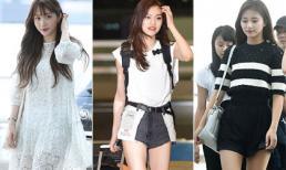 'Nữ hoàng fancam' Hani cực xinh với style công chúa ở sân bay