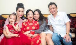 Á hậu Trịnh Kim Chi đón sinh nhật ấm cúng bên mẹ và gia đình