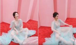 Diện váy cô tiên xanh, Ngọc Trinh xinh đẹp lộng lẫy nhưng dáng ngồi bá đạo mới là điều 'gây sốt'