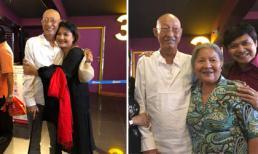 Đang trong thời gian điều trị ung thư, nghệ sĩ Lê Bình vẫn chống gậy đi xem phim cùng đồng nghiệp