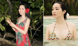 Hoa hậu Giáng My lại khiến ai nấy 'phát hờn' trước vẻ đẹp 'chim sa cá lặn' dù ngưỡng tuổi U50