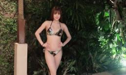 Em gái Công Vinh diện bikini khoe thân hình 'gái một con' bốc lửa bên hồ bơi