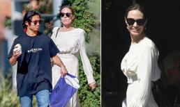 Angelina Jolie thanh thản, tươi rói đi chơi với con trai Pax Thiên, bỏ mặc ồn ào được Brad Pitt chu cấp tiền