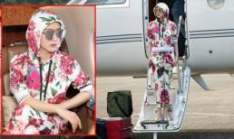 Hoa hậu Giáng My với style 'cực chất' bước xuống từ chuyên cơ riêng