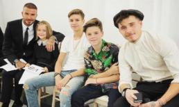 David Beckham bảnh bao cùng 4 nhóc tì tới ủng hộ show diễn của Victoria tại 'Tuần lễ thời trang London'