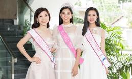 Giao lưu liên tục hậu đăng quang, top 3 Hoa hậu Việt Nam 2018 vẫn đẹp rạng ngời