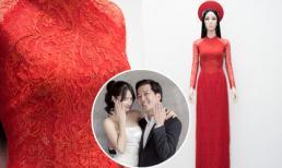 Cận cảnh chiếc áo dài Nhã Phương sẽ mặc trong lễ rước dâu hôm nay