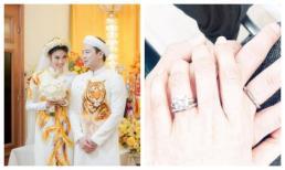 Sau lễ ăn hỏi, Lan Khuê tiếp tục khoe nhẫn đôi mới với ông xã