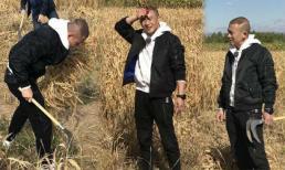 Chán sự kiện thảm đỏ, 'Hoàng thượng' Nhiếp Viễn xuống đồng làm nông dân