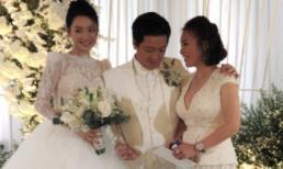 Hé lộ về nữ đại gia có vệ sĩ hộ tống đến đám cưới Trường Giang - Nhã Phương