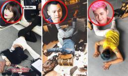Sao Việt chụp ảnh theo trào lưu ngã sấp mặt như hội con nhà giàu, riêng Thanh Duy idol tạo ra phiên bản mới