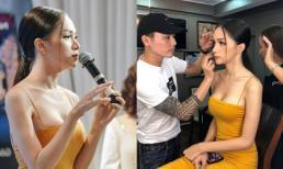 Hoa hậu Hương Giang diện váy 2 dây nổi bật tại Hà Nội