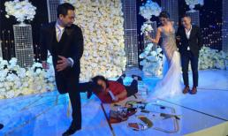 Tiệc cưới Lan Khuê nhưng cô gái ngã 'sấp mặt' này mới là người gây chú ý