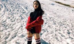 Trốn cái nóng bức Việt Nam, Hương Giang Idol sang New Zealand nghịch tuyết