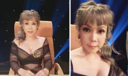 Việt Hương trẻ trung với tóc nhuộm màu, váy hở sâu khoe vòng một gợi cảm
