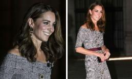 Công nương Kate Middleton khoe vai trần gợi cảm với set đồ gần trăm triệu đồng