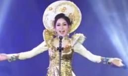Á hậu Phương Nga diện quốc phục lộng lẫy, tự tin hô vang Việt Nam