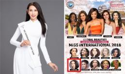 Nguyễn Thúc Thùy Tiên lọt top 15 thí sinh được đánh giá cao tại Hoa hậu Quốc tế 2018