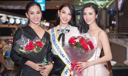 HH Tiểu Vy cùng Á hậu Thuý An ra sân bay tiễn cô bạn thân Thuỳ Tiên lên đường tham gia Hoa hậu Quốc tế