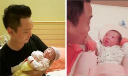 Con gái JustaTee - Trâm Anh chào đời chưa bao lâu đã 'gây bão' với những biểu cảm 'bá đạo'