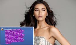Minh Tú bức xúc khi bị nói xấu trước thềm Hoa hậu Siêu quốc gia: 'Cùng chung một dòng máu sao lại phải dìm nhau, hại nhau'