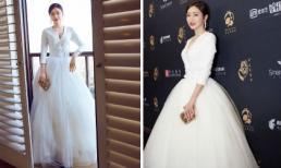 'Phú Sát Hoàng hậu' Tần Lam như nữ thần trên thảm đỏ LHP Truyền hình Trung – Mỹ lần thứ 14
