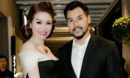 Hoa hậu Bùi Thị Hà diện sắc đen quyền quý tình tứ bên ông xã điển trai