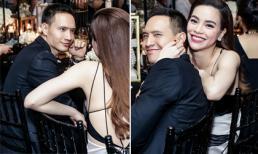 Hà Hồ ôm cổ bẹo má người yêu, Kim Lý cũng không kém cạnh khi nhìn bạn gái đắm đuối