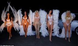 Đêm Halloween nóng chưa từng thấy khi 5 chị em nhà Kardashian diện đồ như thiên thần Victoria's Secret