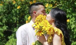 MC Hoàng Linh lại diễn cảnh tình cảm bên bạn trai giữa cánh đồng hoa Đà Lạt