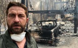 Sao Hollywood bần thần nhìn biệt thự cháy thành tro tàn