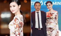 'Nữ hoàng sắc đẹp' Ngọc Duyên diện váy hiệu trăm triệu, tỏa sáng cạnh ông xã doanh nhân