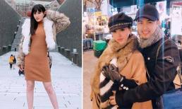 Bảo Thy cùng anh trai và chị dâu đi Hàn Quốc ngắm tuyết đầu mùa