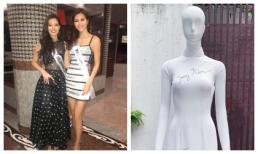 Minh Tú mang áo dài tặng quà sinh nhật cho đương kim Hoa hậu Siêu quốc gia