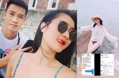 Ngọt ngào với bạn gái, tiền vệ Nguyễn Huy Hùng khiến đồng đội ghen tị