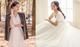 Hé lộ váy cô dâu đính 10 ngàn viên pha lê và ảnh cưới ở Pháp của Á hậu Thanh Tú