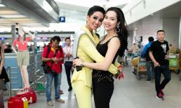 Á hậu Hoàng My tiễn Hoa hậu H'Hen Niê lên đường sang Thái Lan dự thi Miss Universe 2018