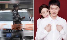 Triệu Lệ Dĩnh bị bắt gặp đi mua đồ sơ sinh với vòng 2 to lùm lùm sau hơn 1 tháng kết hôn với Phùng Thiệu Phong
